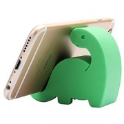Comix Mini Dinosaur Shape Cute Cell Phone Mounts Candy Color Creative Ipad Set Material of Silica Ge Size:2.4 X 2.6 X 1.1 for Iphone Ipad Samsung Phone Tablet Plate Pc (Green)