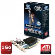 Sapphire Technology HD5450 HM Carte graphique AMD PCI-E 1 Go DDR3 VRAM HDMI / DVI-I / VGA W