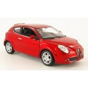 Alfa Romeo MiTo, rojo metálico, Modelo de Auto, modello completo, Welly 1:24