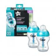 Tommee Tippee Közelebb a természeteshez BPA-mentes Anti-colic plus cumisüveg duo 260ml
