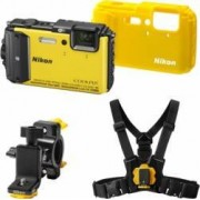 Aparat Foto Digital Nikon COOLPIX AW130 Outdoor KIT Yellow