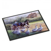 Caroline's Treasures Geese Crossing before the Horse Mat BDBA0351JMAT / BDBA0351MAT