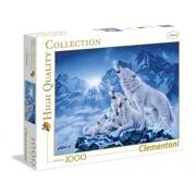 Clementoni 39280 - Puzzle 1000 Pezzi Famiglia di Lupi