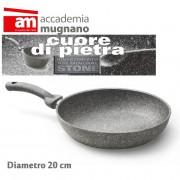 Padella antiaderente in pietra 20 cm Accademia Mugnano Linea CUORE DI PIETRA Mineral Stone