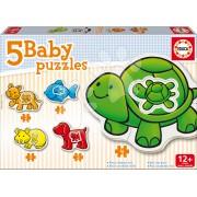 Educa puzzle bebe Animale 14864 colorat