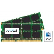 Crucial Kit Memoria per Mac da 4 GB (2 GBx2), DDR3, 1066 MT/s, (PC3-8500) SODIMM, 204-Pin - CT2C2G3S1067MCEU