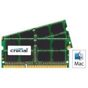 Crucial Kit Memoria per Mac da 4 GB (2 GBx2), DDR3, 1066 MT/s, (PC3-8500) SODIMM, 204-Pin - CT2C2G3S1067MCEU
