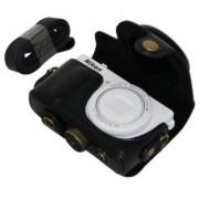 MegaGear Ever Ready Protective Black Leather Camera Case Bag for Nikon COOLPIX P330 Nikon COOLPIX P340