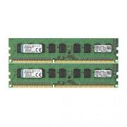 Kingston KVR1333D3E9SK2/16G Memoria RAM da 16 GB, 1333 MHz, DDR3, ECC CL9 DIMM Kit (2x8 GB), 240-pin
