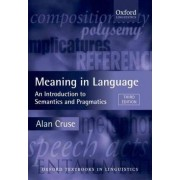 Meaning in Language by Alan Cruse