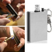 Portable Bottle Shaped Survival Tool Flint Fire Starter Lighter Kit survival kit