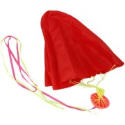 Imported 65cm Tangle-Free Mini Parachute Sky Flying Kid Outdoor Funny Toy Gifts Red