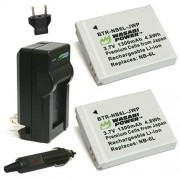 Wasabi Power Battery (2-Pack) and Charger for Canon NB-6L CB-2LY and Canon PowerShot D10 D20 ELPH 500 HS S90 S95 S120 SD770 IS SD980 IS SD1200 IS SD1300 IS SD3500 IS SD4000 IS SX170 IS SX240 HS SX260 HS SX270 HS SX280 HS SX500 IS SX510 HS SX600 HS