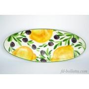 Piatto ceramica ovale oc7
