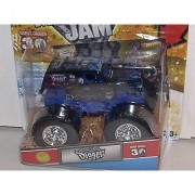 2012 HOT WHEELS 1:64 SCALE SON UVA DIGGER 2012 1ST EDITIONS MONSTER JAM TRUCK 30TH ANNIVERSARY GRAVE DIGGER SERIES WITH TOPPS TRADING CARD