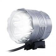 Sahara Sailor Bike Light Super Bright 5 LED Bike Headlight with Rechargeable 4400 mAh Battery