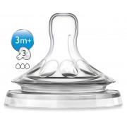 Philips Avent - Tetine Natural flux mediu SCF653/27 3m+
