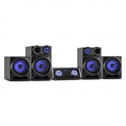 Malone Mega Party Sistema de audio 720W Bluetooth DVD HDMI AV FM USB AUX