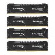 HyperX Savage HX421C13SBK4/16 XMP Memoria da 16 GB, 2133 MHz, DDR4, CL13 DIMM, Kit (4x4 GB), Nero