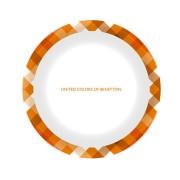 【セール実施中】ベネトンメラミンプレート 19cm(チェック・オレンジ) MA-5398 キャンプ バーベキュー 食器