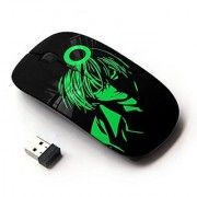 X-MOUSE M-3009596 Wireless Mouse - Neon Green Grin