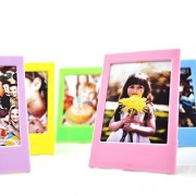Fujifilm Instax Mini Ten Pack Instant Film Photo Frames Set,Hellohelio 10 Colorful 3 Inch borders,Set of 10