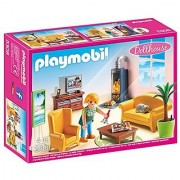 PLAYMOBIL Living Room with Fireplace Playset