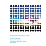 Applied Multivariate Statistical Analysis by Richard A. Johnson