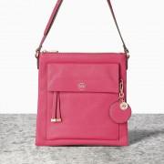 Malá růžová kabelka crossbody NICA s velkou kapsou