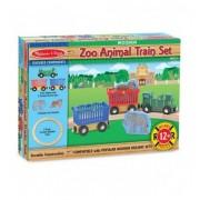 Дървена влакова композиция Zoo Animal Train Set