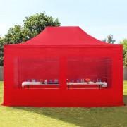 Profizelt24 Faltpavillon 3x4,5m rot Klappzelt, Partyzelt, Gartenzelt, Faltzelt