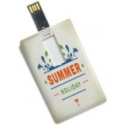 100yellow Credit Card Shape Summer Holiday Print 8GB Fancy Pen Drive/Data Storage 8 GB Pen Drive(Multicolor)