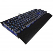 Tastatura gaming mecanica Corsair K70 LUX Blue LED Cherry MX Red Layout EU Black