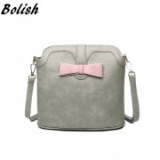 Bolish New Arrival Nubuck Leather Small Women Shoulder Bag Fashion Bucket Crossbody Bag For Women School Bag