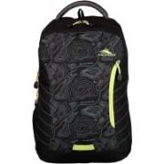 High Sierra Shark Laptop Backpack(Black, Green)