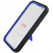 Eagle Cell Hybrid Skin Case with Kickstand for LG Optimus G Pro/E980 - Retail Packaging - Black/Blue