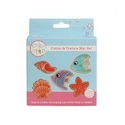 Sea Life Cutters And Texture Mat Set