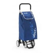 Gimi Twin húzható-tolható négykerekű bevásárlókocsi kék - 145065