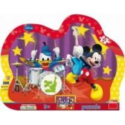 Puzzle cu rama-Formatia lui Mickey Mouse 25 de piese