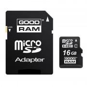 Card Goodram MicroSDHC 16GB Class 4 cu adaptor
