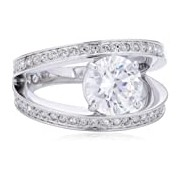Swarovski 5007770 Women's Ring - Metal with Swarovski Crystals 52 (16.6)