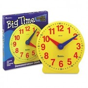 Big Time Learning Clocks 12-Hour Demonstration Clock for Grades K-4