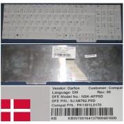 Clavier Qwerty Danois / Danish Pour ACER Aspire 7220, 7520, 7520G, 7720, 7720G, 7720Z, 7720ZG Series, Blanc / White, Model: NSK-AFP0D, P/N: KB.INT00.164, 9J.N8782.P0D, PK1301L0170