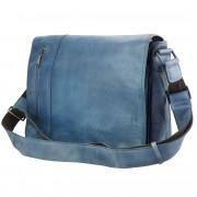 Florence Leather Market Borsa Messenger Grigori in vintage pelle (68023)