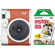 Fujifilm Instax Mini 90 Instant Camera with 20 Shots of Film - Brown