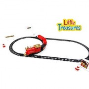 Engineering Construction Train Set Toy - The Steam Engine Rumbles Down The Track With Some Cargo And Tractors - Fun And