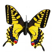 Hqrp Twin Yellow Day Flying Butterfly Moth Lepidoptera For Outdoor Indoor Yard Garden Decor Flower Pot Solar Powered + Hqrp Uv Meter