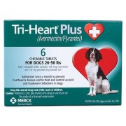 Ivermectin-Pyrantel - Generic to Heartgard Plus 6pk Green 26-50 lbs by VIRBAC