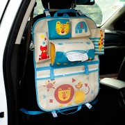K-Bright Cute Cartoon Car Seat Back Organiser Baby Travel Convenient Hanging Storage Multi-Pocket Foldable Collector