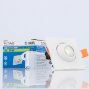 Downlight LED 3w»8W Luz Natural 200Lm 60º orientável Q